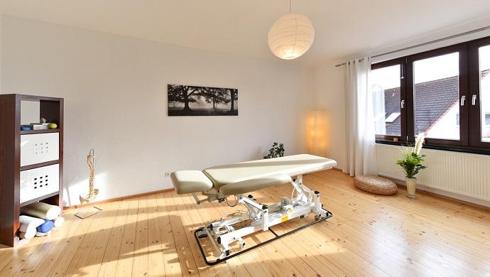 Behandlungszimmer des Zentrums für Osteopathie und Physiotherapie Merrett